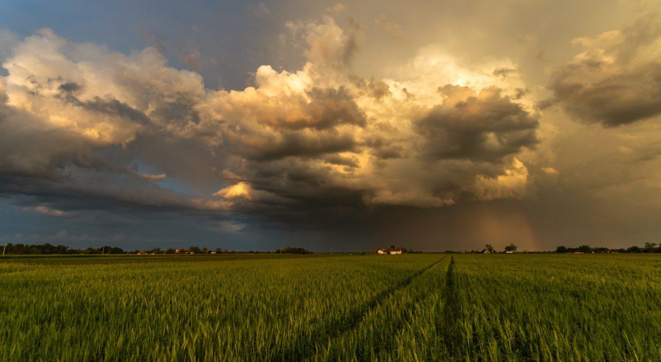 A nap képe: Távozó Zivatarfelhők