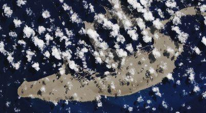Az űrből is látszik a hatalmas habkősziget