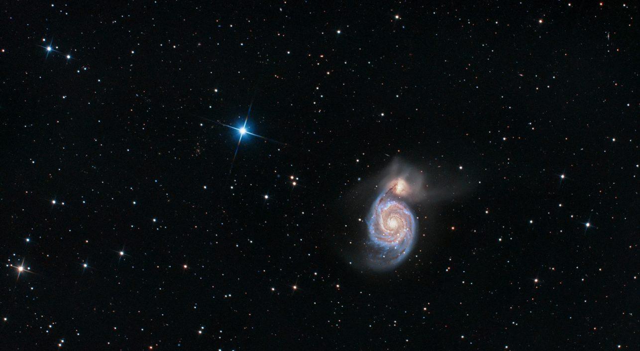 A nap képe: Örvény galaxis (Messier 51)