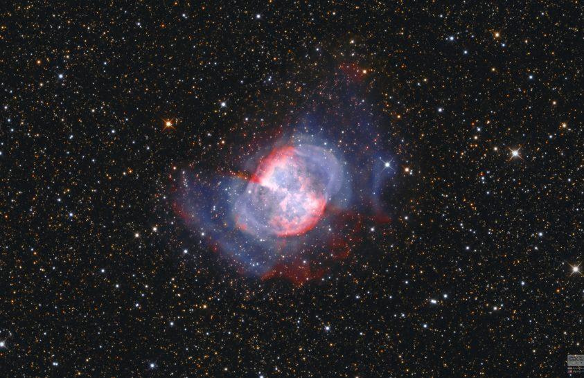 Egy csillag elmúlásának festői lenyomata: a Súlyzó-köd
