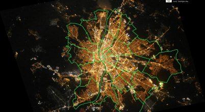 Gyönyörű űrfelvétel készült az éjszakai Budapestről