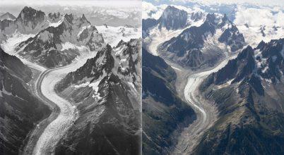 Ennyit olvadtak 100 év alatt az Alpok gleccserei
