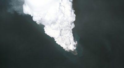 Óriási buborékokat hozott létre egy vulkán