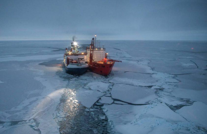 Megtalálta az otthonát a Polarstern a sarki jégben