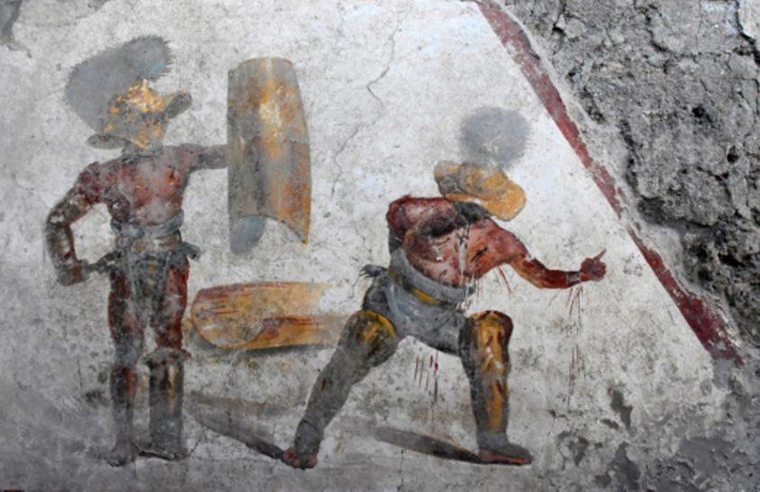 Kivételes freskó került elő egy pompeji bordélyban