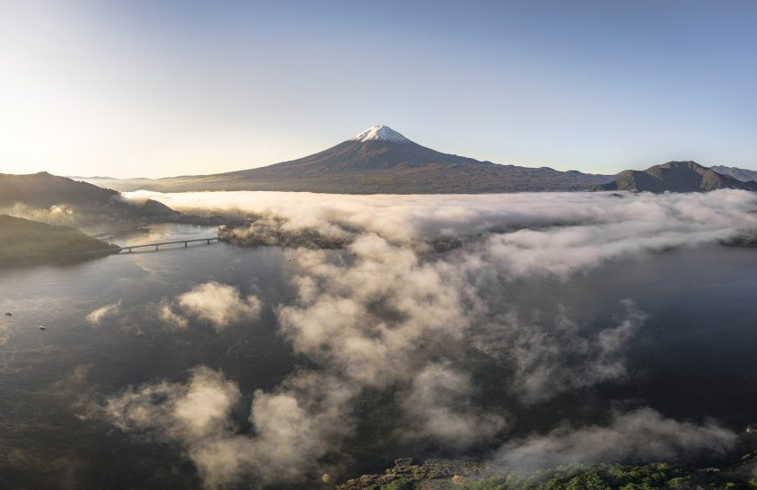 A nap képe: A Fuji ködszoknyája