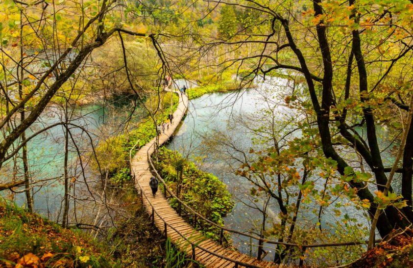 Őszi színek a Plitvicei-tavaknál