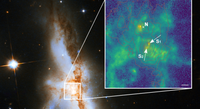 Három szupermasszív fekete lyukat találtak egy galaxis közepében