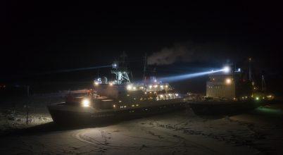 Legénységcsere a Polarstern éves küldetésén