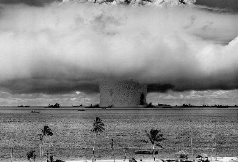 Sebhelyek a Bikini-atoll környékén