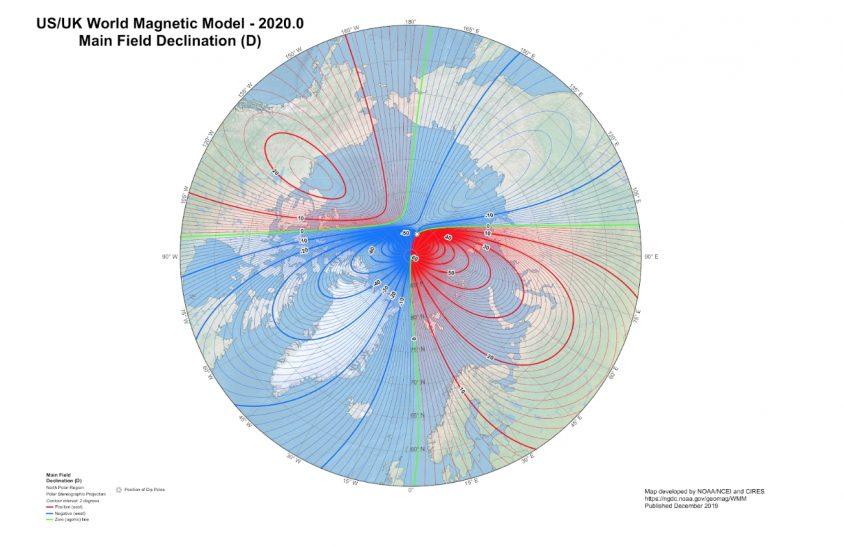 Tovább halad a mágneses északi pólus Szibéria felé