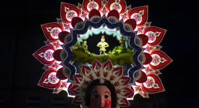 Szilveszteri maskarások egy svájci faluban