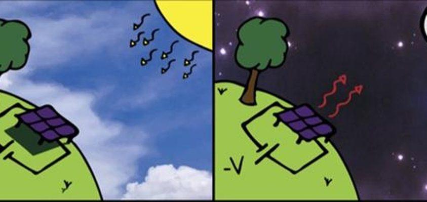 Éjszaka működő napelemek