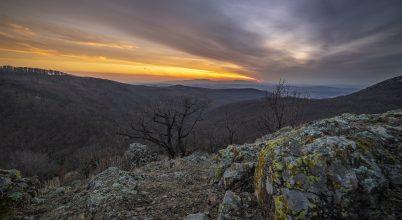 Kora tavaszi naplemente a Bél-kő lábánál