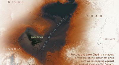 Az egykori óriási Csád-tó maradványai