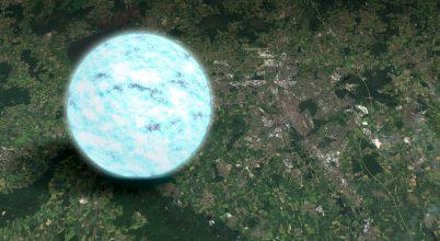 11 kilométeres sugarú egy átlagos neutroncsillag