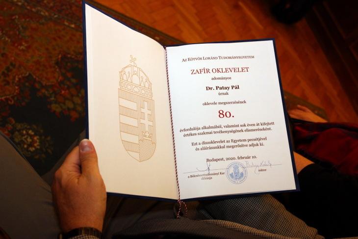 Első zafírdiplomás az ELTE-n