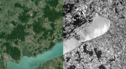 Magyarország az 1960-as évek GoogleEarth térképén