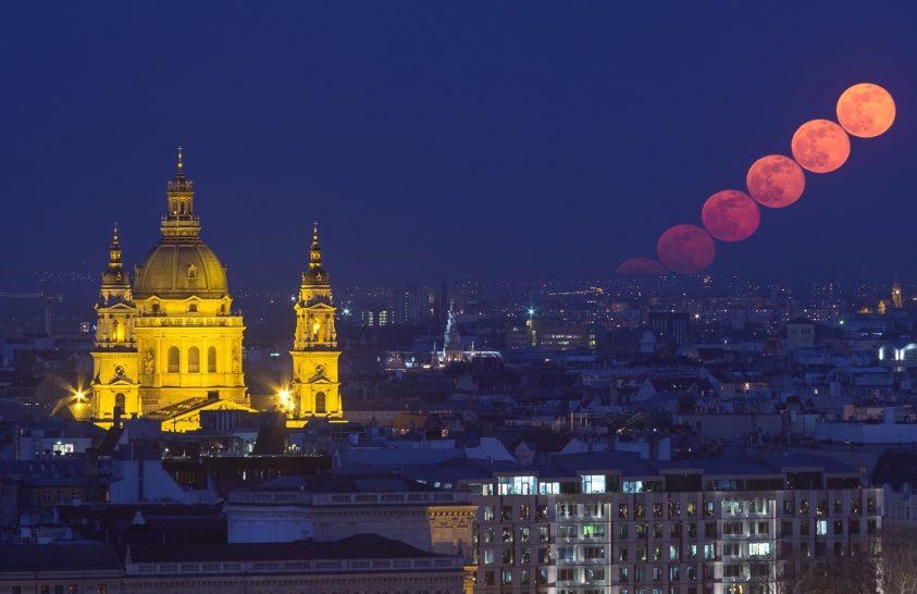 2020. április asztrofotója: Holdkelte kék órában