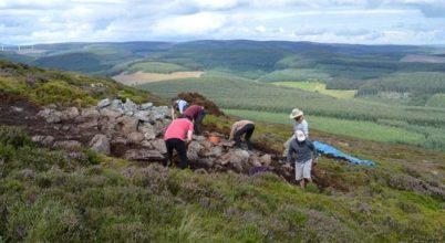Ókori település állt egy skóciai dombtetőn