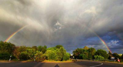 Szivárvány és eső