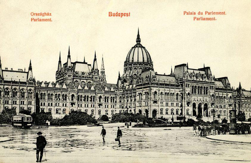 A magyar országgyűlés első ülése a Parlamentben