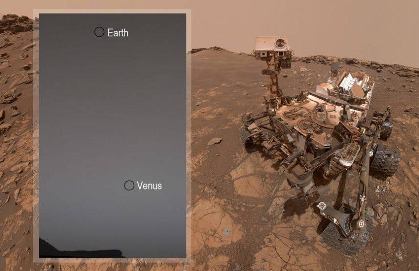 Milyennek látszik a Marsról a Vénusz és a Föld?