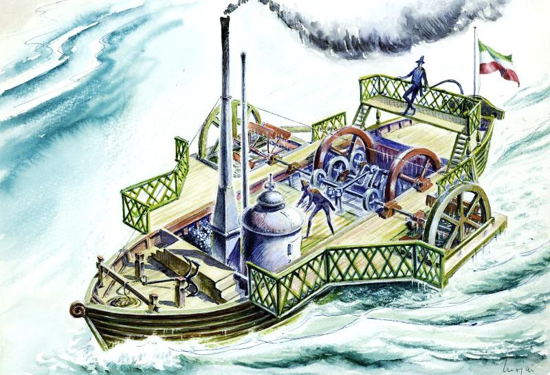 A Duna első gőzhajója: a CAROLINA vontató