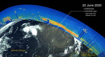 Így kelt át az óceánon a júniusi portömeg
