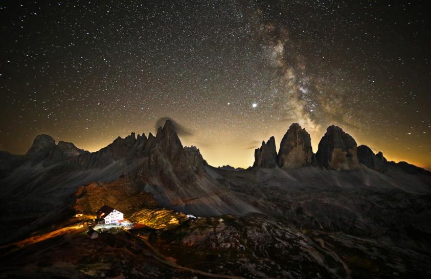 A nap képe: Csillagfényes Dolomitok