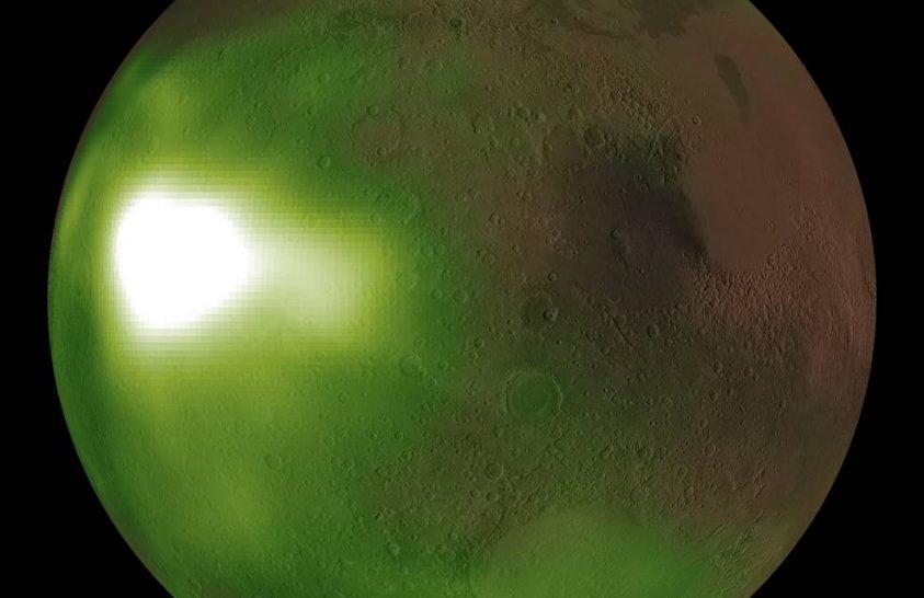 Ultraibolya fényben pulzál a marsi éjszaka
