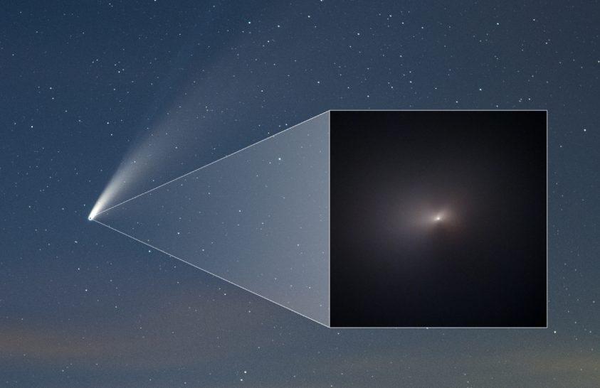 Így fest a NEOWISE üstökös a Hubble űrteleszkóp szemén át