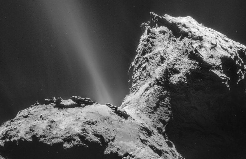 Különleges fényjelenség egy üstökösön