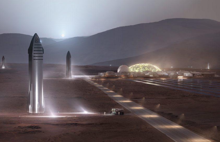 Négy év múlva indulhat először a SpaceX a Marsra