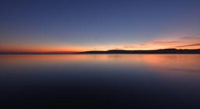 A nap képe: Balatononi kék óra