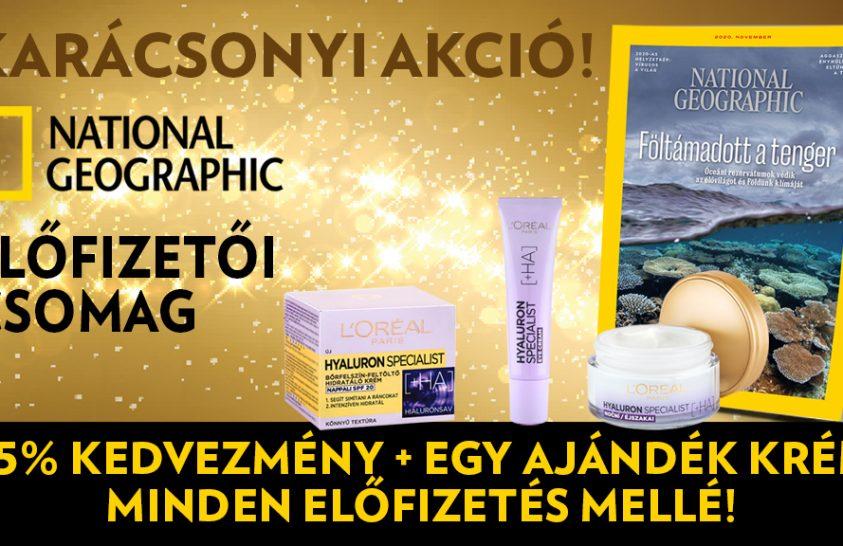 National Geographic magazin előfizetés garantált ajándékkal