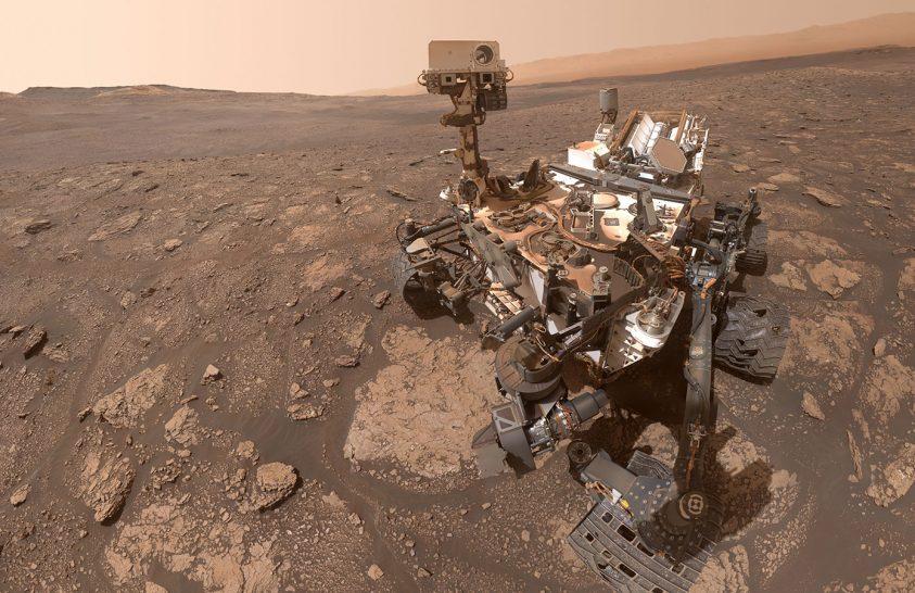 Egy szelfi érkezett a Marsról