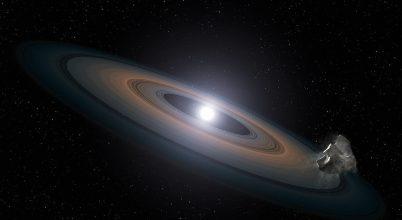 Egy bolygótól lophatott anyagot egy elpusztult csillag