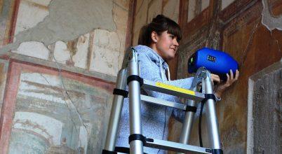 A feltárás során károsodnak Pompeji páratlan falfestményeit