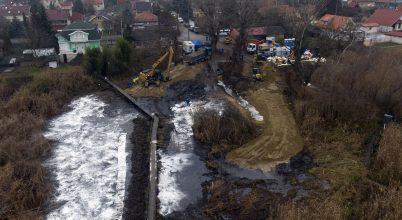 Harmadfokú vízminőségi kárelhárítás a Ráckevei-Duna-ágnál