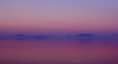 A nap képe: Naplemente a Balatonon