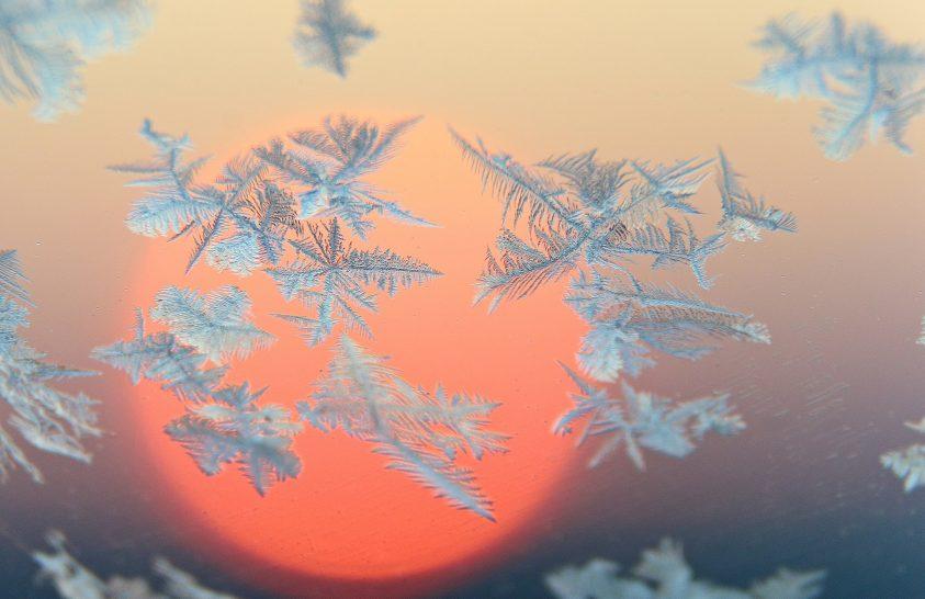 A nap képe: Jégvirágos napfelkelte
