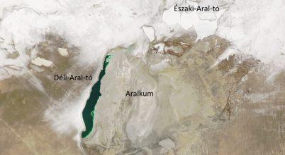 Így fest az Aral-tó télen