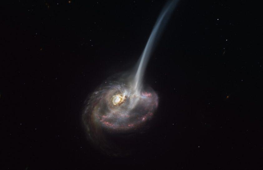 Összeolvadás miatt haldokló galaxist figyelt meg az ALMA