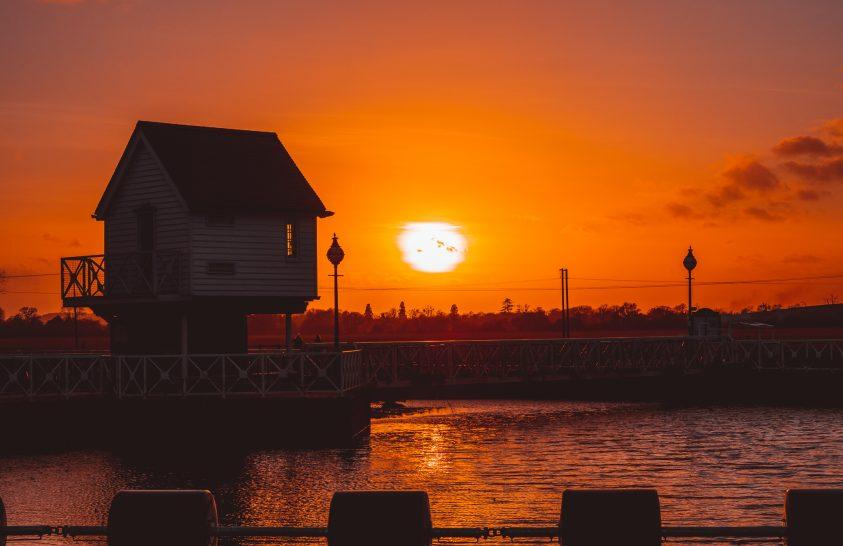 A nap képe: Naplemente a Tewkesbury malomnál
