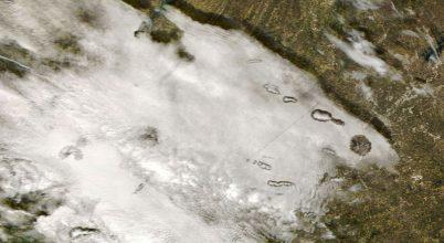 Lyukfelhők az USA déli része felett