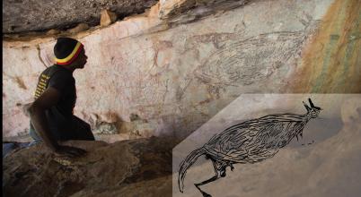 Hatalmas kenguru látható Ausztrália legősibb sziklarajzán