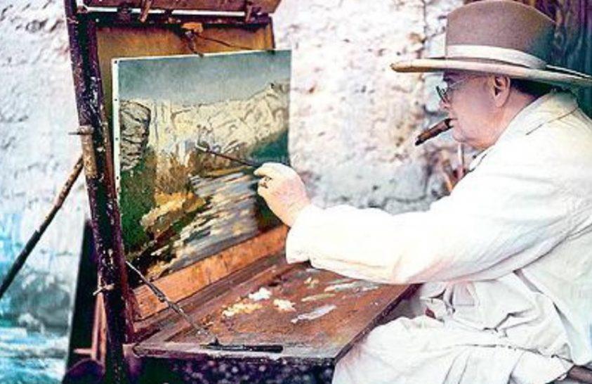 Vért, verítéket és olajfestéket – Churchill, a festőművész