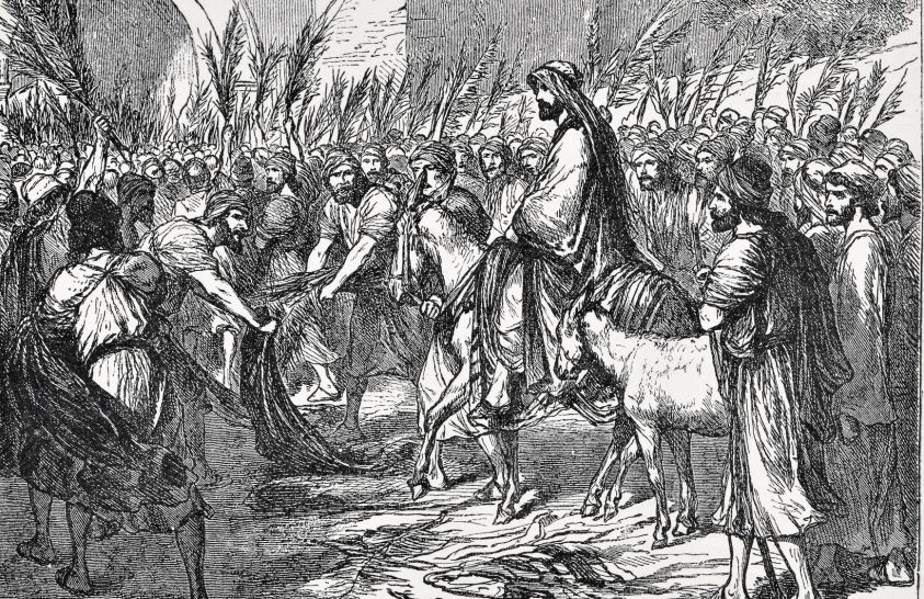 Virágvasárnap: Jézus bevonult Jeruzsálembe