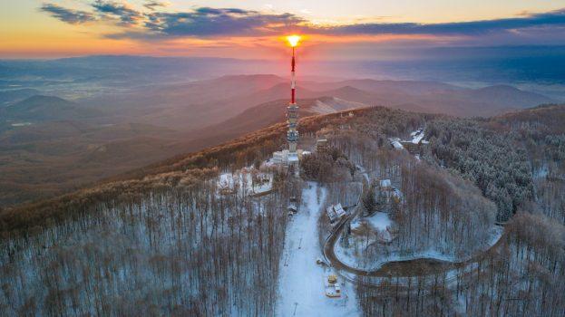 A nap képe: Napkelte a Kékestetőn